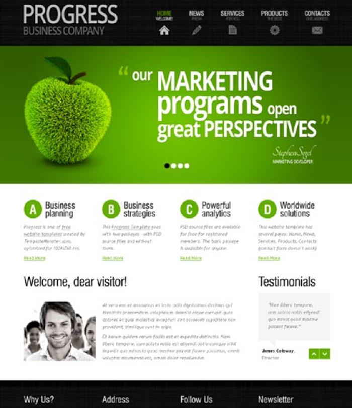Dùng màu xanh lá cho các website thiên về thực vật, môi trường