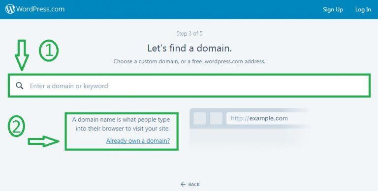chọn tên miền - domain