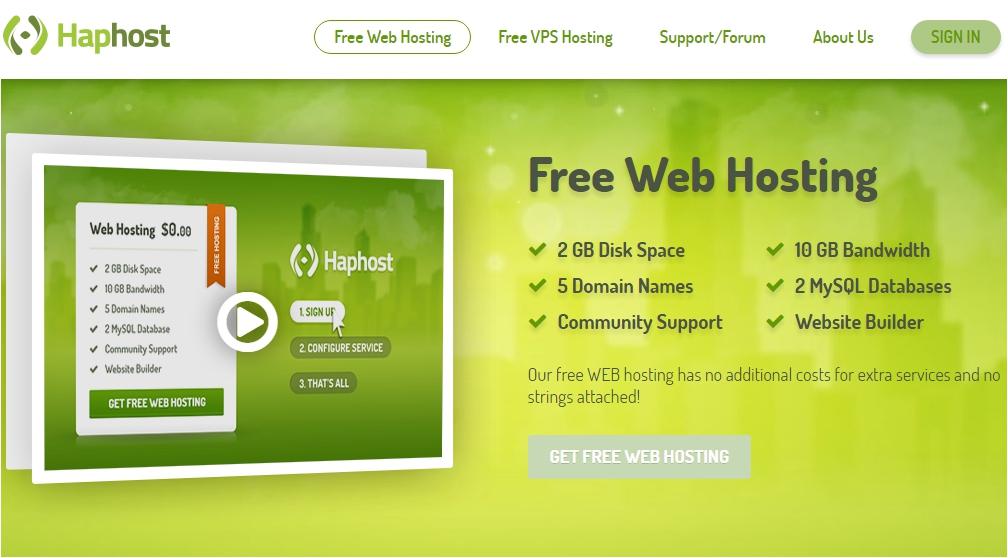 Free Hosting HapHost