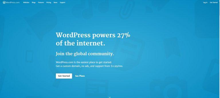 trang chủ wordpress.com